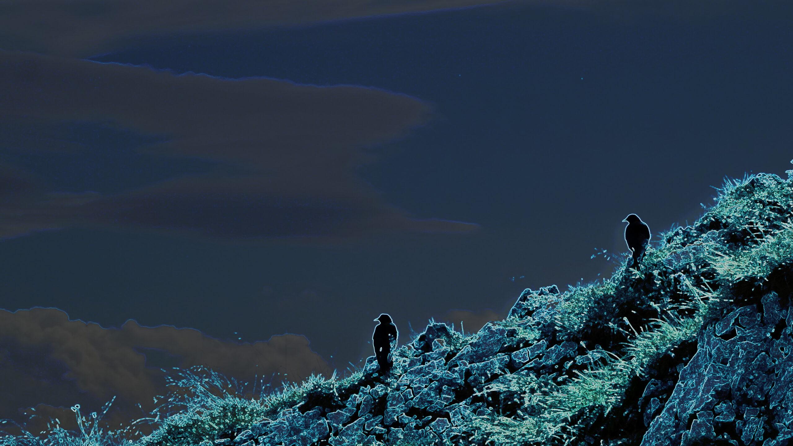 Mystische-Untersbergdohlen-in-Neonblue-by-Emo-Blue-EmanuelOne